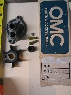 0385897 Evinrude Johnson 2hp water pump kit. OMC BRP 385897 1975 to 1990 387362