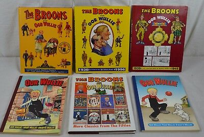 The Broons Oor Wullie Set of 6 PB & HB Books Comic Annuals Scottish DC Thomson