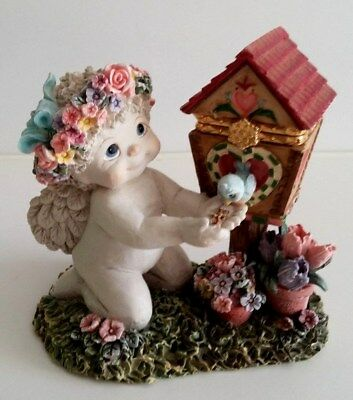 "Colorful Functional Dreamsicles ""Tulip Birdhouse"" Trinket Box Figurine # 1146"