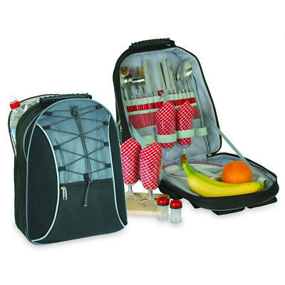 NuFazes Picnic Set Backpack for 4 with Cooler Compartment