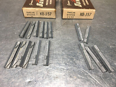 (Lot of 17) Sunnen K8-J57 Honing Hone Stones, Silicon Carbide, 220 Grit
