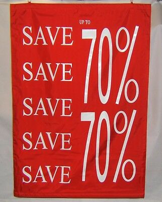 """Sale"" Banner ""Upto 70% Off"" Nylon. Double Sided, Internal, External SIGN"