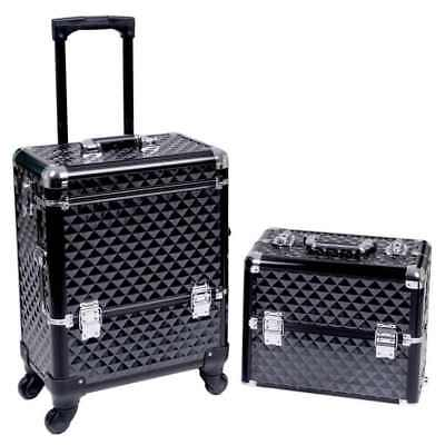 Beauty Trolley Suitcase  Hairdressing Vanity Nail Jewellery Pro Makeup Box
