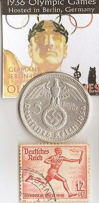 *micro *Collection of *1936 *Olympic  Memrobily's/coins/stamps/cards/+..