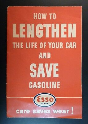 1941 ESSO Booklet ~ How to Lengthen the Life of Your Car & Save Gasoline ~ 40 Pg