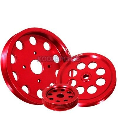 RB20 RB25DET RB26 Engine Power Steering Alternator Water Pulley Underdrive Red
