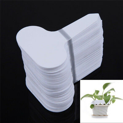100pcs/set T-type Plastic Nursery Garden Plant Label Thick Tag Mark for Flower