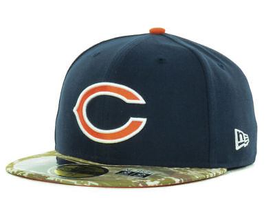 quality design a68a9 26f17 Chicago Bears New Era 59FIFTY NFL Salute to Service Fitted Hat Cap - Navy  Camo