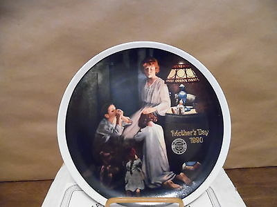 Norman Rockwell Plate 1990 Mothers Day MIB w/COA