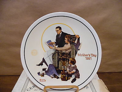 Norman Rockwell Plate 1991 Mothers Day MIB w/COA