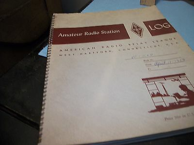 "AMATEUR RADIO STATION ""LOG"" AMERICAN Radio Relay League 1959 full of entries!"