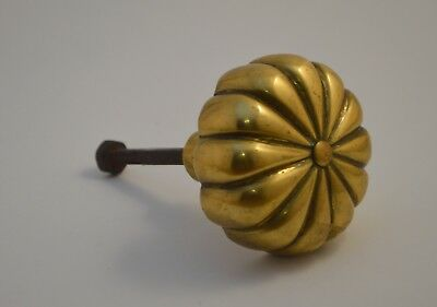 Antique Solid Bronze Brass Heavy Rare Knob Door Genuine Old Hardware Salvage
