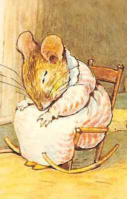 Modern Postcard: Beatrix Potter - Tired Mother Mouse Sleeping, Mrs. Tittlemouse