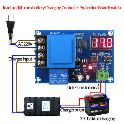 Lead-acid Battery Charger Controller 220V Protection Switch 12V 24V 48V New MP