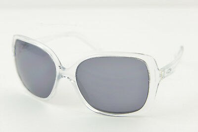 Oakley BECKON Polished Clear/Grey OO9125 Women's Sunglasses