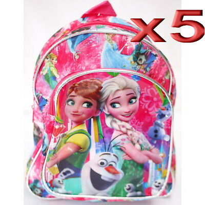 5pc Wholesale Bulk Lots Kids Children Girls Disney Frozen Small Backpack Bags