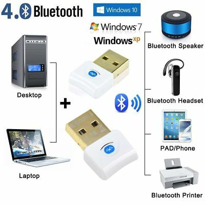 Mini USB 2.0 Bluetooth V4.0 Dongle Wireless Adapter PC Laptop Win 10 3Mbps Speed