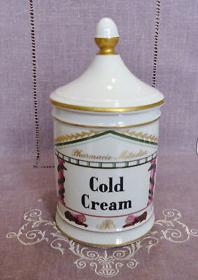 Ancien  Pot A Pharmacie Metadier En Porcelaine De France - Cold Cream