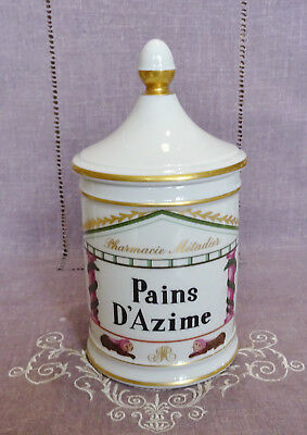 Ancien  Pot A Pharmacie Metadier En Porcelaine De France - Pains D'azime