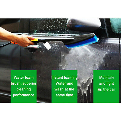 Car Wash Brush Exterior Retractable Long Handle Water Flow Switch Foam+Bottle