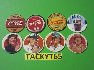 "Coca Cola Collection Series 2 Complete ""Coke Cap"" Set 1-8 New"