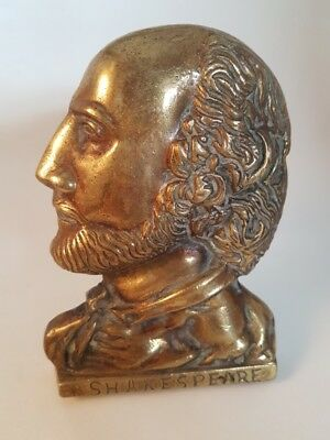 William Shakespeare British Door Knocker Solid Brass 1950s