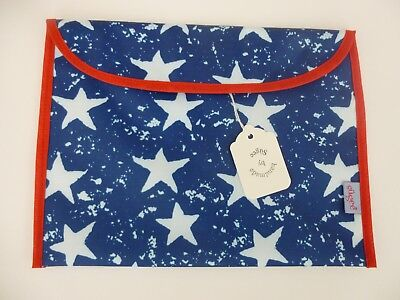 Baby Health Red Record Book Holder 'STARS' Navy/Red - Shower Party Gift - BNWT