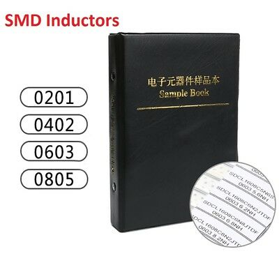 Components Samples Book SMD/SMT Inductors 0201/0402/0603/0805 Assorted Kit