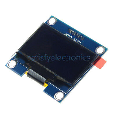 "Blue 1.3"" OLED LCD Display Module IIC I2C 128x64 3-5V Interface for Arduino"