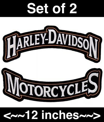 "12"" Harley Motorcycles Top And Bottom Rocker Set *made In Usa*"