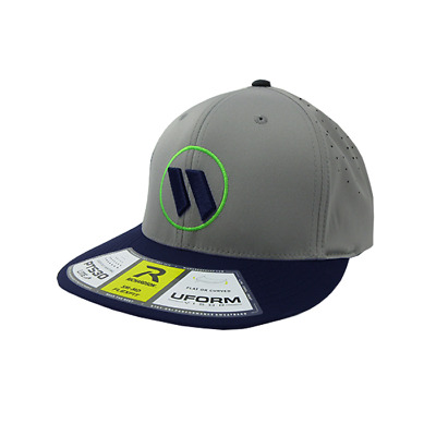 Worth Hat by Richardson (PTS30) Navy/Grey/Grey/Neon Green/Navy XS/SM