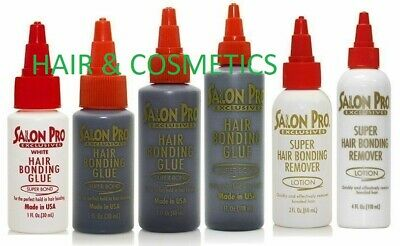 Salon-Pro-Hair-Extension-Bonding-Glue-Black/White/ Remover-All Size Available