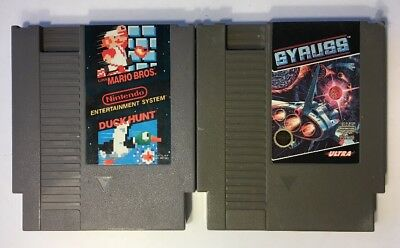 2 Game Lot Nintendo NES, Super Mario Bros Duck Hunt & Gyruss