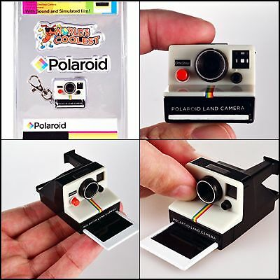 Top Quality World's Coolest Polaroid Camera Cool Keychain Collectable Toy NEW