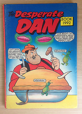 """The Desperate Dan Book """"From the Dandy"""" 1992 Hardback Annual - Great Condition"""