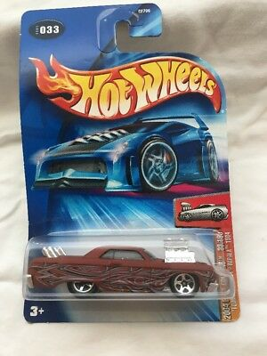 Hot Wheels 2004 First Editions 'Tooned Chevy Impala 1964 NIP 33/100
