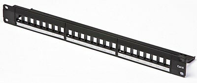 Machpower Patch Panel Modulare 24P Per Rack 19 1U Black