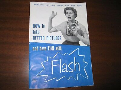 How To Take Better Pictures & Have Fun With Flash 1954 Bklet Sylvania Electric