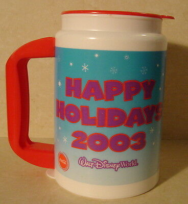 Walt Disney World Happy Holidays 2003 with Characters  Drink Cup Mug