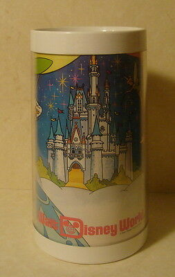 Vintage WDP Walt Disney World Thermo Serve Mug Cup Characters in Hot Air Balloon