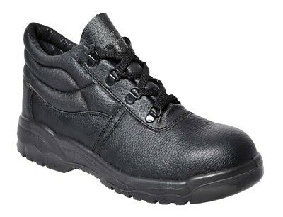 Portwest FW10 Black Steel Toe Steelite Protector Leather Work Boot Sizes 3 TO 18