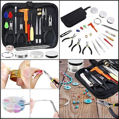 Jewelry Making Kit Tools for DIY Crafting Repairing Storage Case 27 Pieces Set