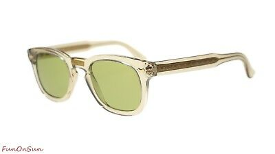 8afc1ce631 Gucci Unisex Sunglasses GG0182S 005 Light Brown Green Lens 49mm Authentic