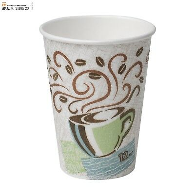 Coffee Tea Hot Paper Cups Dixie PerfecTouch Insulated,New Design,12 oz.160 cups