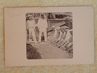 Imperial Russian Navy Sailors Work on Deck of Ship/1901 Undivided Back Postcard