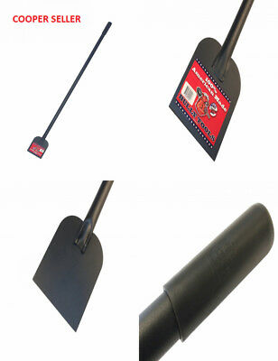 Bully Tools 92200 Heavy Duty Sidewalk and Ice Scraper with Long Steel Handle