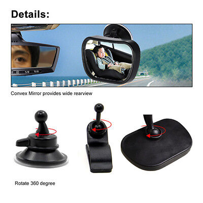 Car Adjustable Rear View Mirror for Baby Safety Interior Mirror HD Glcss New