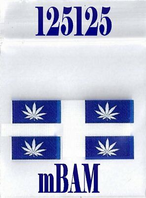 100 PACK 3 MIL BLUE MONTREAL POT LEAF 125125 Apple Zip Baggies 1.25x1.25""
