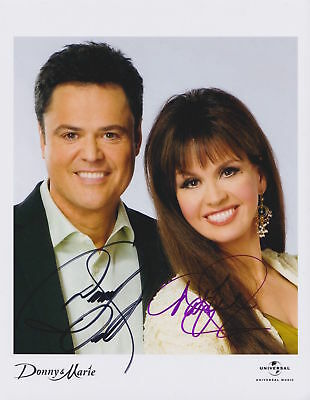 "Donnie & Marie Osmond 8x10 Signed Autograph Reprint Photo ""Mint"""