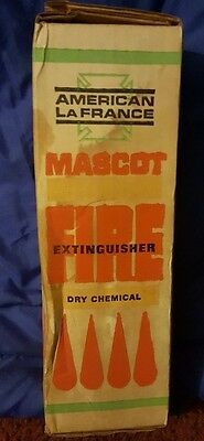 vintage American LaFrance Mascot Fire Extinguisher Dry chemical NEW IN BOX